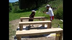 Table De Jardin En Palette De Bois by Comment Fabriquer Une Table De Ping Pong En Beton Soi Meme Youtube