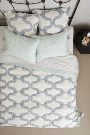 Anthropologie Bed Skirt Dotted Trellis Quilt Anthropologie