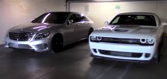 lexus vs mercedes sedan s65 amg sedan vs challenger hellcat american vs german muscle