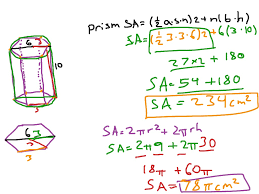 Area Formula by How To Find The Surface Area Of A Cylinder And Hexagonal Prism
