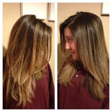 does hair look like ombre when highlights growing out hair grown out highlights to intentional ombre amber gallegos hair