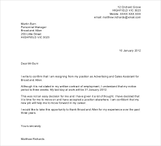 email resignation letter resignation letter format good personal