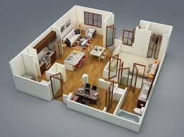 Studio Apartment 3d Floor Plans Modern Apartments And Houses 3d Floor Plans Different Models