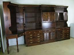 1970 ethan allen old tavern antiqued pine wall plan bar dresser