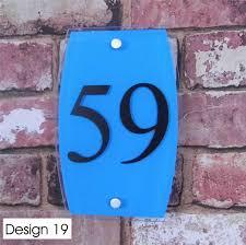 glass door number signs personalised house sign door number street address plaque glass