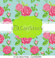 clip art vector of floral shabby chic card baby shower