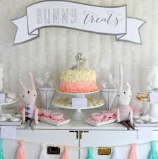 rabbit party supplies snow bunny themed birthday party decor vivi turns one