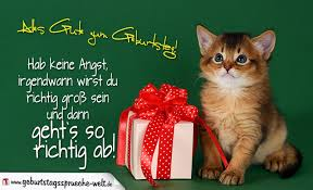 kinder geburtstagssprüche geburtstagskarte für kinder mit katzenmotiv geburtstagssprüche welt