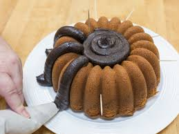 How To Make Halloween Cakes Halloween Spider Bundt Flourish King Arthur Flour