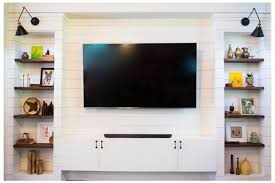 shiplap built in entertainment center reveal daly digs