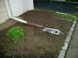 downspout drainage idea roof drain install pipe house