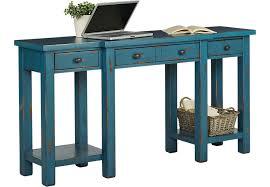 Blue Computer Desk Pine Shores Blue Desk Desks Colors