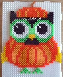 pumpkin owl halloween hama perler beads by deco kdo nat perler