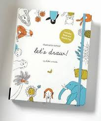 illustration let u0027s draw includes book and sketch pad