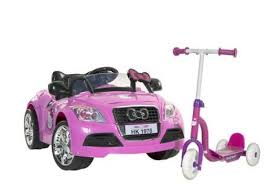 target kitty sports car 6v ride free scooter