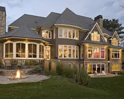 Houses With Big Windows Decor Exterior Hillside Walkout House Plans Design Pictures Remodel
