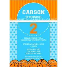 design lovely diy basketball birthday invitations with white