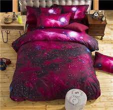 Space Bed Set 3d Galaxy Bedding Sets Size Universe Outer Space Themed