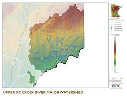 Map Of St Croix Upper St Croix River Watershed Minnesota Nutrient Data Portal
