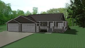 3 door garage plans acreage farmhouse plans by e designs 3