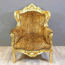 Leopard Armchair Royal Baroque Armchairs Tiffany Lamp Bronze Sculpture