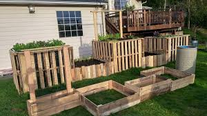 Raised Garden Bed Designs Astounding Diy Pallet Garden Raised Flower Bed Ideas Pallets With