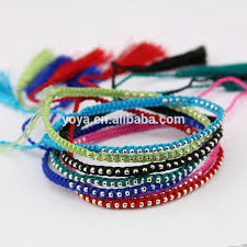 metal beads bracelet images Brt0954 fashion tiny silver metal beads macrame bracelet with jpg