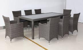 kiama 9 piece outdoor dining setting graphite u2013 furnitureokay