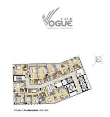 the vogue floor plans buisness bay dubai