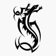 lizard tribal tattoo stencil