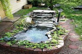 Small Garden Waterfall Ideas Small Garden Waterfall Ideas Easy Above Ground Ponds In Ground