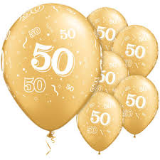 gold balloons gold 50th balloons biodegradeable