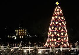 lighting of national christmas tree christmas lights decoration