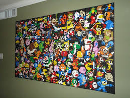 this lego wall mural is an epic tribute to video games pic lego gaming wall mural
