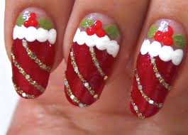 cute easy christmas nails how you can do it at home pictures
