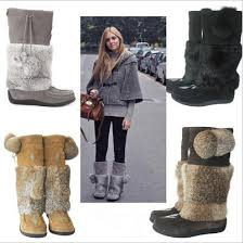 womens fall boots canada winter canada muks genuine leather bead suede leather rabbit