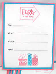 birthday invitation template birthday blank birthday party invitation template affordable