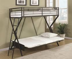 bedroom nice sandy black metal convertible futon loft bed by