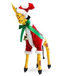 Giraffe Christmas Decorations giraffe in red sweater glass ornament giraffe ornament and