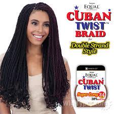 cuban twist hair freetress equal synthetic braid cuban twist braid 24 wigtypes com