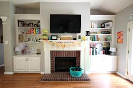 Decorations Tv Over Fireplace Ideas by Living Room Ideas With Brick Fireplace And Tv Centerfieldbar Com