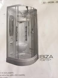 ibiza hydro cabin shower enclosure in prestwick south ayrshire