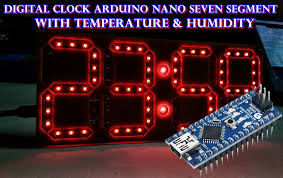 membuat jam digital led besar digital clock dot matrix 8x8 max7219 controlled by arduino jam