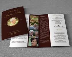 Elegant Funeral Programs Funeral Program