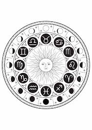 astrological signs mandala by louise mandalas coloring pages