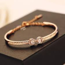 bracelets for gold bracelets for women models minimalist small bow zircon