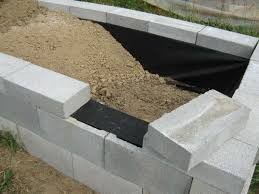 creative of building a garden wall with concrete blocks building a