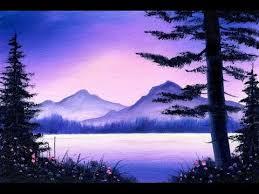 27 purple mountain lake 5x7 small oil sketch youtube