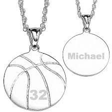personalized basketball necklace personalized silver tone basketball necklace walmart
