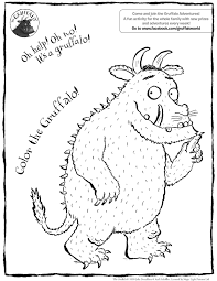gruffalo colouring pages print funycoloring
